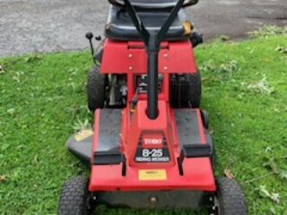 Toro lawnmower from front